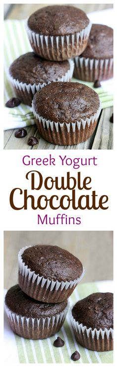 These Skinny Double Chocolate Muffins are the BEST! On MyRecipeMagic.com