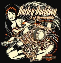 Harley-Davidson by David Vincent #illustration