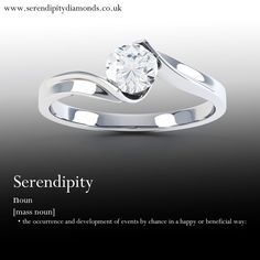 Serendipity. #engagement #romance #proposal. Serendipity. When you happen upon something beneficial by pure chance. Sometimes this might be a someone, not just a something.