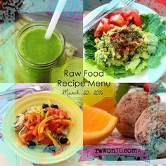 Raw on $10 a Day (or Less!): Raw Food Recipe Menu: March 20, 2016