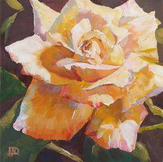 "SOLD - Daily Paintworks - ""Rose Challenge #2"" - Original Fine Art for Sale - © Leanne Owen"