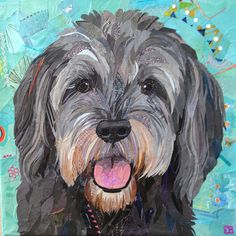 custom pet portrait, dog art, dog portrait, pet collage Source by Collage Portrait, Collage Art, Collages, Dog Quilts, Animal Quilts, Cute Animal Illustration, Illustration Art, Paint Your Pet, Photo Quilts