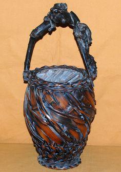 japanese pottery tree branch basket - Google Search