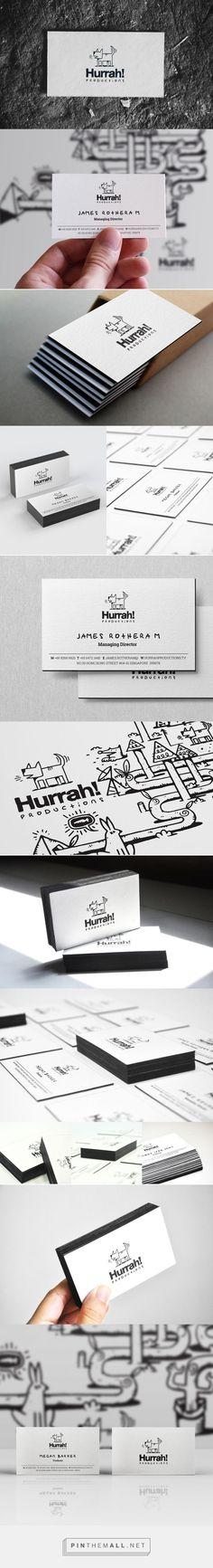 Hurrah! letterpress black edge business card design BY Rayz Ong: