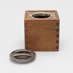 Bertel Gardberg; Teak and Silver Tea Box, 1957.