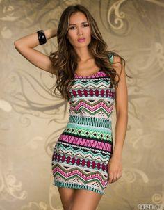 Women Dresses New fashion 2014 spring Mini vestidos de festa luxury totem print Dresses