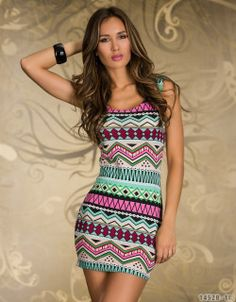 Women Dresses New fashion 2014 spring Mini vestidos de festa luxury totem print Dresses