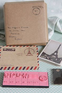 Paris Theme Crafting Kitincludes StampsTagsKraft by sugarbsupplies, $10.00