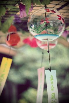 Japanese summer wind chimes. Japan. S)