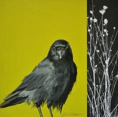 """Art From My Easel...by Jacqueline McIntyre """"I Love Green, How About You?"""" Acrylic and Collage $125.00"""