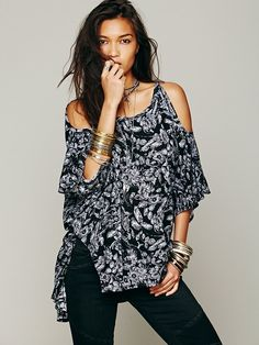 Free People FP New Romantics Echo Me Floral Top, 88.00