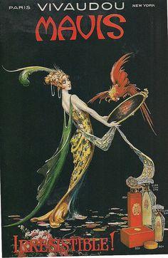 Vivaudou Mavis perfume ad in The ladies'home journal for september 1919 / Anonyme Vintage Advertising Posters, Vintage Advertisements, Vintage Posters, Advertising History, Vintage Labels, Vintage Ads, Retro Ads, Moda Art Deco, Vintage Magazine