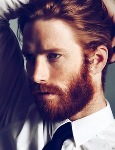 I love beards. And smokin hot redheads. I love beards. And smokin hot redheads. Beards And Mustaches, I Love Beards, Hot Ginger Men, Ginger Beard, Ginger Hair, Beautiful Red Hair, Gorgeous Men, Levi Jackson, Red Hair Men