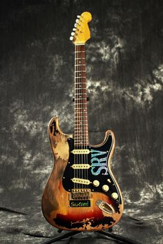 SRV Number One. Get it here :  https://reverb.com/item/4381624-10s-limited-edition-stevie-ray-vaughan-tribute-number-one-srv-1-heavy-relic-electric-guitar-2017-3