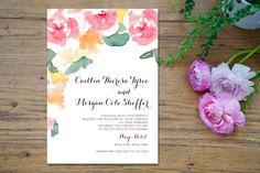 Pastel Watercolor Bouquet Clipart by Bella Love Letters on Creative Market