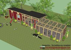 M104 - Chicken Coop Plans Construction - Chicken Coop Design - How To Build A Chicken Coop It can comfortably hold 35 - 40 chickens ... U... #ChickenCoopPlans