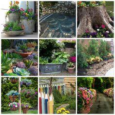 A mai bejegyzésben olyan kertszépítő ötleteket gyűjtöttem csokorba  amelyek látványa vagy épp csak egy kis részlete m...