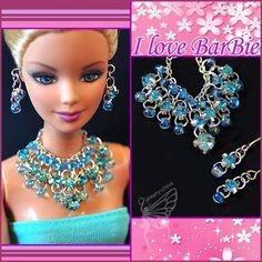barbie jóias boneca barbie definir colar de pérolas brancas e brinco