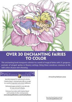 Creative Haven ENCHANTED FAIRIES Coloring Book by: Barbara Lanza - Dover Publications ABOUT BOOK