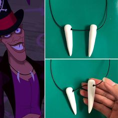 ❤ This listing is for ONE Princess and the Frog inspired Dr. The necklace is approximately 20 inches long where each tooth is approximately 2 inches long Disney Villain Costumes, Disney Villains, Villans Costumes, Disney Halloween, Halloween Costumes, Halloween Ideas, Skeleton Costumes, Halloween Birthday, Family Halloween