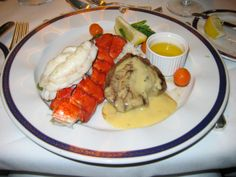 #Lobster dinner in the main dining room of the #Holland America Line #Ms Zuiderdam