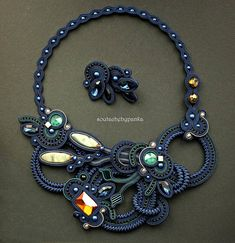 Hey, I found this really awesome Etsy listing at https://www.etsy.com/listing/572760400/dark-blue-soutache-set-fashion-soutache