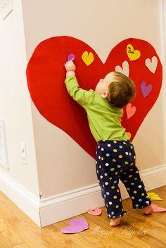 Valentine's Day Felt Heart for Toddlers  megankunkel.wordpress.com