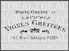 stencil, french, shabby chic, VIGNES GREFFEES, furniture stencil, wall painting art craft stencil