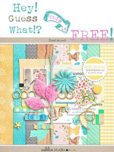 Free Digital Scrapbooking Kits by Sahlin Studios Plus Free matching Facebook Timeline Cover