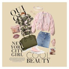 """Rose Gold is My New Fav Color🐷"" by la-stevy on Polyvore featuring Oui, Hollister Co., Topshop, Givenchy, Converse, Urban Decay and River Island"