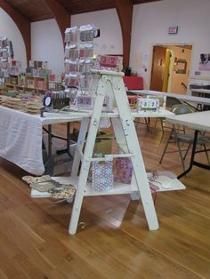 More step ladder shelving. {craft booth setup}