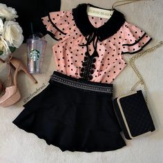cute date outfits Cute Date Outfits, Girly Outfits, Stylish Outfits, Kids Outfits, Cool Outfits, Fashion Outfits, Cute Dresses, Girls Dresses, Mode Rock