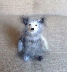 Вязаная мягкая игрушка Мышь интерьерная игрушка подарок