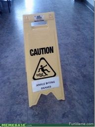 LOL! Funny Caution Sign