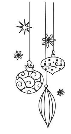 Balls in doodles Urban Threads: Unique and fantastic embroidery designs Balls in doodles Urban Threads: Unique and fantastic embroidery designs Christmas Colors, Christmas Art, Christmas Holidays, Christmas Ornaments, Wire Ornaments, Christmas Doodles, Christmas Drawing, Embroidery Patterns, Hand Embroidery