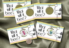 Scratch Off Baby Gender Reveal Cards