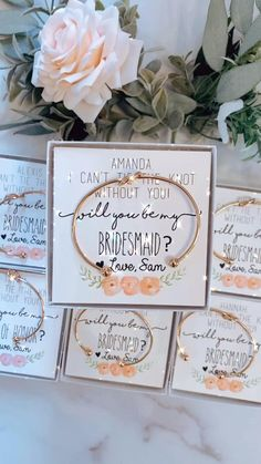 Bridesmaid gift! Will you be my Bridesmaid? Knot bangles! Rose gold, silver or gold bracelet! Baby Shower Favors, Bridal Shower, Personalized Bridesmaid Gifts, Will You Be My Bridesmaid, Bangles, Bracelets, Knots, Rose Gold, Floral