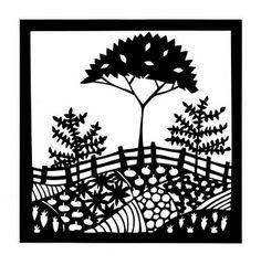 Patchwork Farm paper cut, by Suzy Taylor