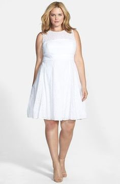White party dresses for plus size - http://pluslook.eu/party/white ...