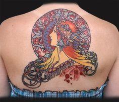Mucha Tattoos - Fuck Yeah, Alphonse Mucha!