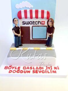 Sevgililer Pastası - First Date Cake - İlk buluşma pastası Toy Chest, Storage Chest, Swatch, Birthday Cake, Pasta, Toys, Decor, Activity Toys, Decoration