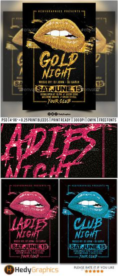 Gold Night #Flyer - Clubs & Parties #Events Download here:  https://graphicriver.net/item/gold-night-flyer/20331131?ref=alena994