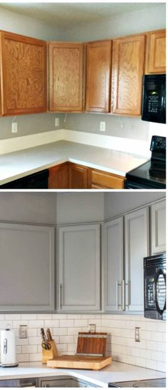 amazing kitchen makeover...I'm in ! | Home improvment ... on kitchen rust-oleum cabinet transformations before and after, kitchen makeovers for small kitchens, kitchen cabinet makeover ideas, kitchen backsplash, cheap kitchen makeovers before and after, old kitchen cabinets makeover before and after, kitchen remodels before after, kitchen makeover ideas on a budget, kitchen paint color ideas with dark cabinets,