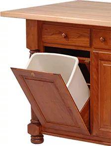 Add Wastebasket Slide Out Or Tilt Out To Your Kitchen Island|50+. Hardwood FurnitureAmish  FurnitureKitchen IslandPittsburgh