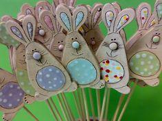 Garden Art, Rabbits, Easter, Clay, Easter Activities, Schmuck, Yard Art