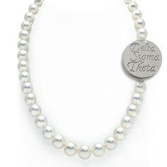 Delta Sigma Theta Pearl Necklace