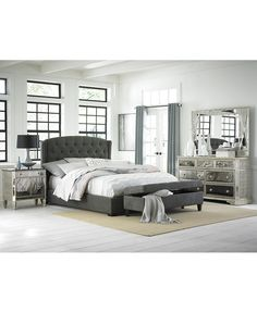 Lesley King Bed - Beds & Headboards - Furniture - Macy's