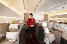 : Cathay Pacific cabin crew will serve you Krug Grand Cuvée champagne, provide pyjamas to sleep in and cook your eggs just how you like them