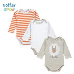 Retail 3 Pieces/lot Cartoon Style Baby Girl Boy Winter Clothes New Born Body Baby Ropa Next Baby Bodysuit