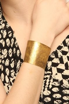 nice and simple #bracelet :: Gold Fighting Cuff
